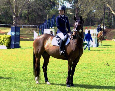 Laura Thomas and her stunning mare Irish Affair