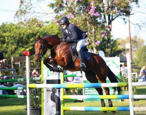 Andy Norbury and Saint Domingo in action at Shongweni Derby