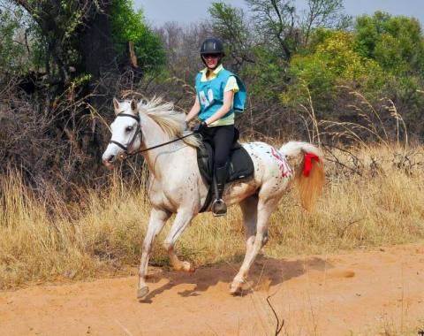 Venessa Stander and her beautiful mare Cloud Dancer competing in the Waterberg October 2015