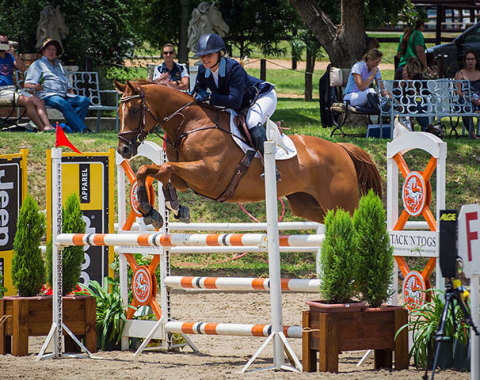 Emma Elcott competing with her beautiful gelding Welcome Boy