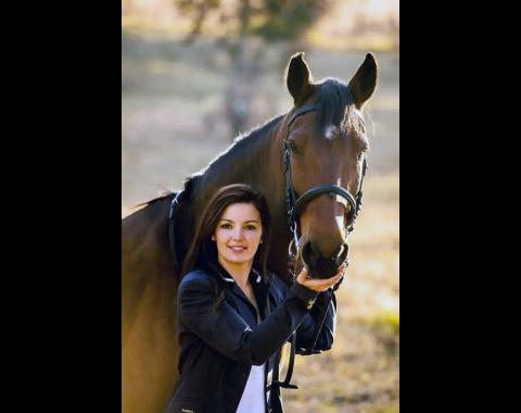 Lucinda Engelbrecht with her horse Pilgrim