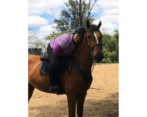 Kelly Naylor with her horse Mossandi Luther