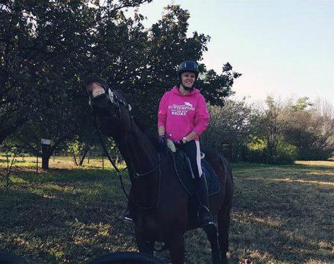 Storm Abbi Cook riding Bruce P