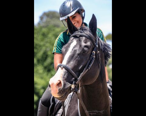 Tarishka and her horse Secret Keeper