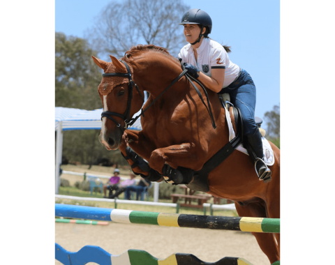Helene Holloway's and her horse Stakkato