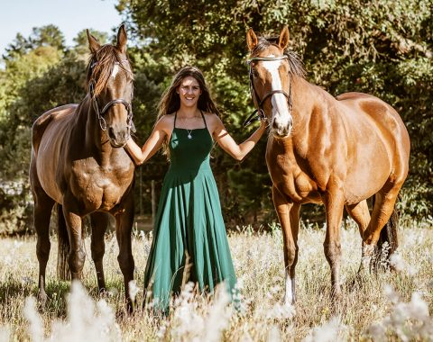 Daleen Conradie's beautiful horses Royal Imperium and The Sequel
